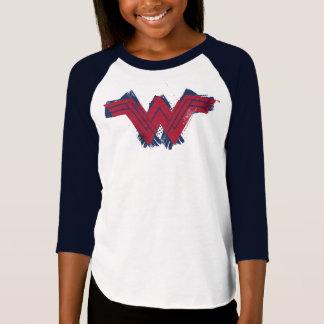 Camiseta Símbolo escovado   da mulher maravilha da liga de