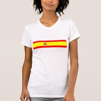 Camiseta Símbolo espanhol da nação da bandeira de país da