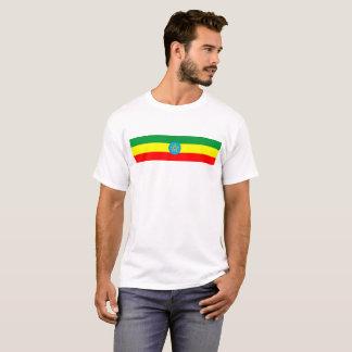 Camiseta símbolo longo da bandeira de país de Etiópia