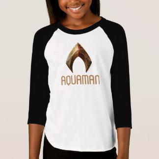 Camiseta Símbolo metálico da liga de justiça | Aquaman
