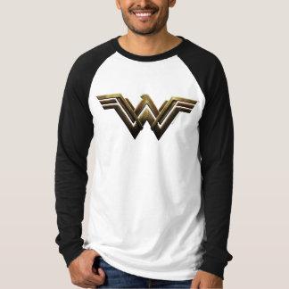 Camiseta Símbolo metálico da mulher maravilha da liga de