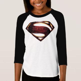 Camiseta Símbolo metálico do superman da liga de justiça |