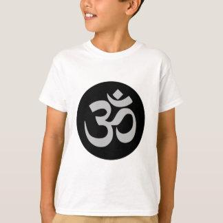 Camiseta Símbolo, prata e preto de Aum