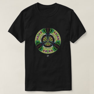 Camiseta Símbolo psicadélico do bio-perigo (ou o que u
