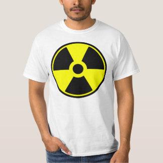 Camiseta Símbolo radioativo do símbolo da radiação nuclear