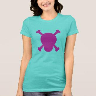 Camiseta Símbolo roxo do crânio e dos ossos