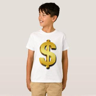 Camiseta Símbolo Sparkling do dinheiro do sinal do dólar