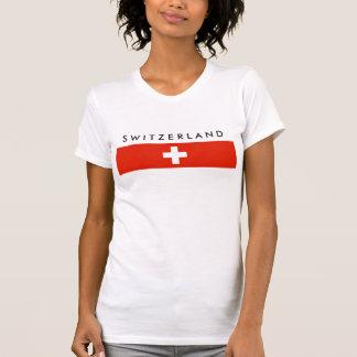 Camiseta Símbolo suíço da nação da bandeira de país da