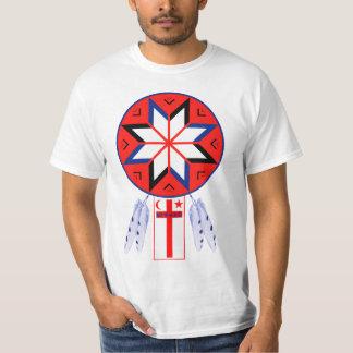 Camiseta Símbolo tripartido e bandeira do fórum de Mi'Kmaq