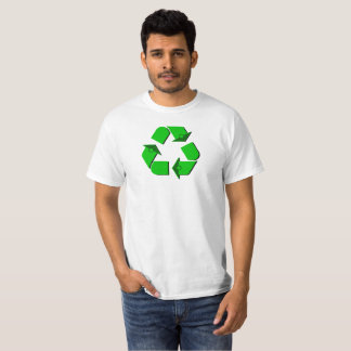Camiseta Símbolo verde do reciclar