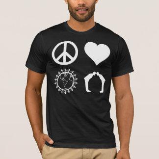 Camiseta Simbologia de PLUR (camisa escura)
