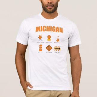 Camiseta Símbolos de Michigan
