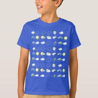 Camiseta símbolos de tempo simples