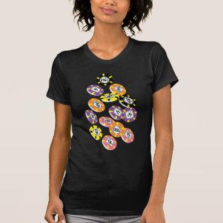 Camiseta Símbolos do casino que jogam microplaquetas