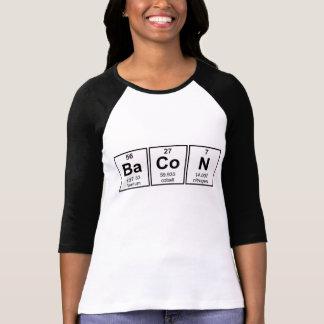 Camiseta Símbolos do elemento de mesa periódica do bacon