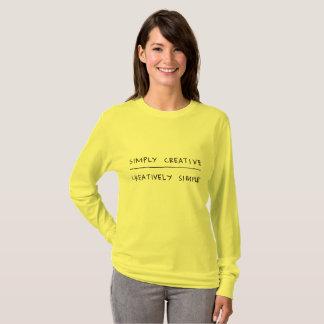 Camiseta Simplesmente criativo, criativa simples