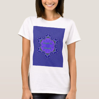 Camiseta Simplicidade Lifestyle da lavanda roxa chique '