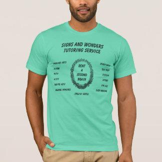 Camiseta Sinais e serviço do tutoria das maravilhas