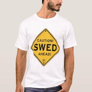 Camiseta Sinal americano sueco engraçado de Swed do cuidado