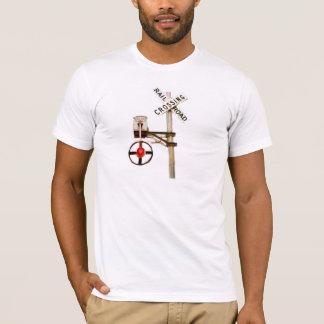 Camiseta Sinal da estrada de ferro do Wag da peruca