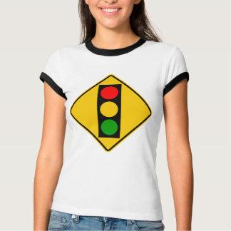 Camiseta Sinal da estrada do sinal adiante