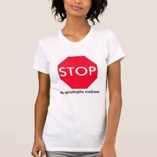 Camiseta Sinal da parada de Guru da gramática