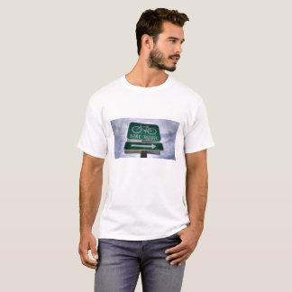 Camiseta Sinal da rota da bicicleta de Califórnia