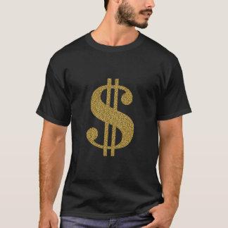 Camiseta Sinal de dólar do ouro