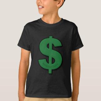 Camiseta Sinal de dólar verde