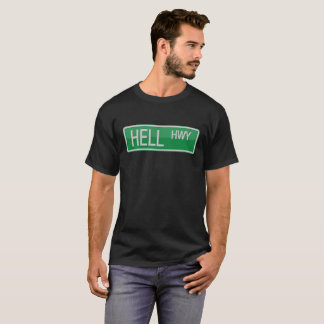 Camiseta Sinal de estrada da estrada do inferno