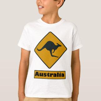 Camiseta Sinal de estrada de Austrália - cruzamento do