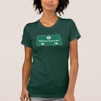 Camiseta Sinal de estrada de Vancôver, Canadá