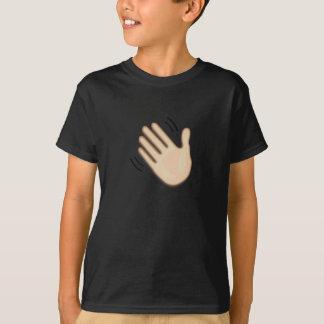Camiseta Sinal de ondulação Emoji da mão