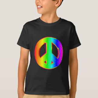Camiseta sinal de paz 3-D #1 do arco-íris
