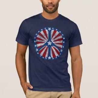 Camiseta Sinal de paz americano retro