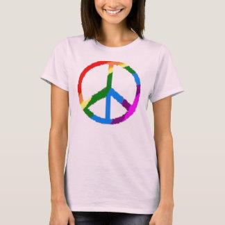 Camiseta sinal de paz colorido