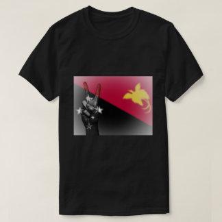 Camiseta Sinal de paz da bandeira de Papuá-Nova Guiné -