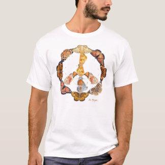 Camiseta sinal de paz da borboleta