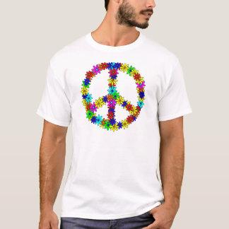 Camiseta Sinal de paz da flor do amor