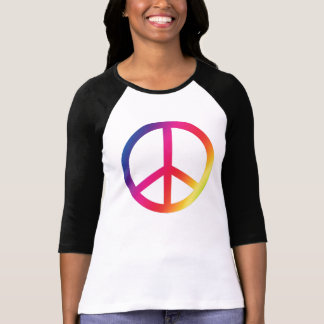Camiseta Sinal de paz do arco-íris
