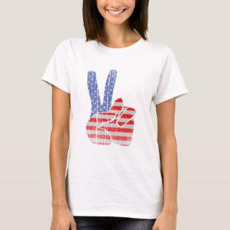 Camiseta Sinal de paz (estilo do vintage)