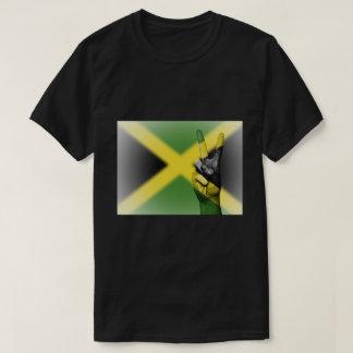 Camiseta Sinal de paz jamaicano da bandeira - patriótico