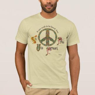 Camiseta Sinal de paz Latin e celta