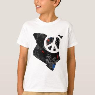 Camiseta Sinal de paz na moda de Kenya com mapa do Kenyan
