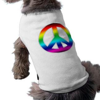 Camiseta Sinal de paz - roupa do animal de estimação