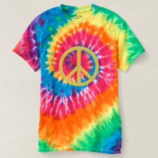 Camiseta Sinal de paz - t-shirt espiral da Laço-Tintura
