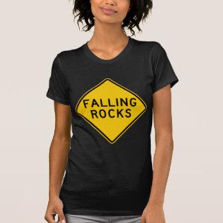 Camiseta Sinal de queda da estrada da zona das rochas