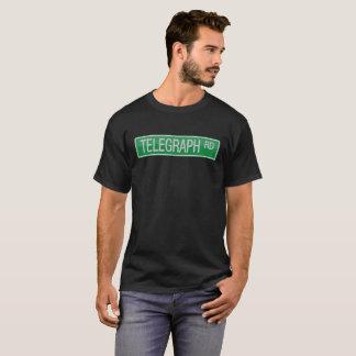 Camiseta Sinal de rua da estrada do telégrafo