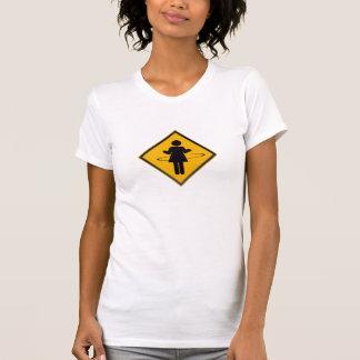 Camiseta Sinal de tráfego da menina da aro de Hula