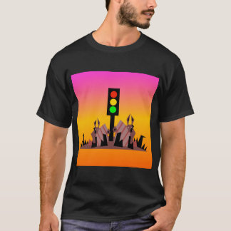 Camiseta Sinal de trânsito com coelhos, fundo sonhador